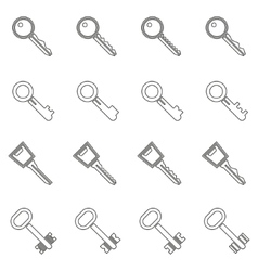 Key icons set in thin line style vector image vector image