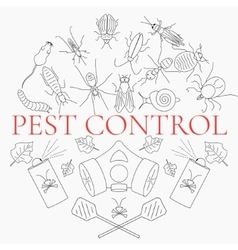 Pest control linear set vector