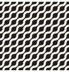 Seamless wavy diagonal line geometric vector