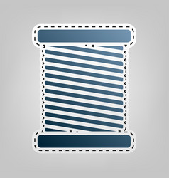 Thread sign blue icon with vector