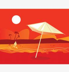 tropical beach sunset vector image