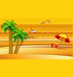Tropical sea holidays vector