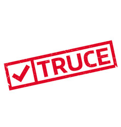 truce rubber stamp vector image vector image