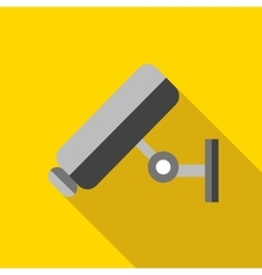 Video surveillance camera icon flat style vector