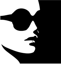 Woman in trendy eye wear vector