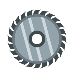 Drive for saw icon flat style vector