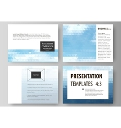 Presentation slide templates easy editable vector
