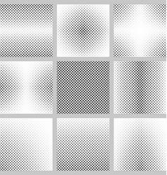 Set of monochrome dot pattern backgrounds vector image