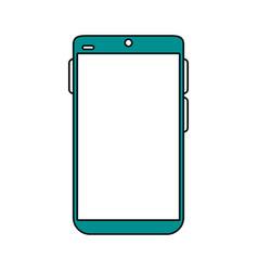 Electronic cell phone on vector