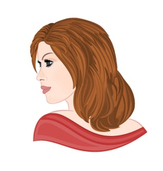 Girl with brown hair elegance portraits vector