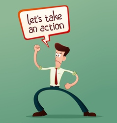 Lets take an action vector