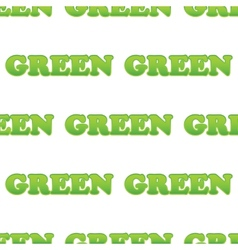 Word green pattern vector