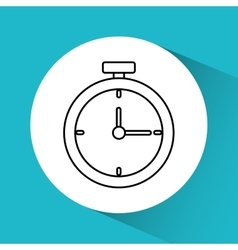 Time and clock graphic icon vector