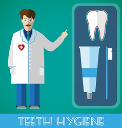 Teeth hygiene banner vector