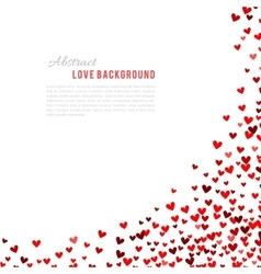 Romantic red background vector