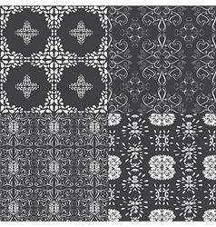 Floral seamless pattern set floral designed vector image