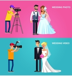 Photographer and videographer vector