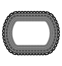 Decorative vintage frame isolated vector