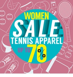 Women sale tennis apparel vector