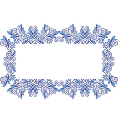 Abstract gzhel frame vector