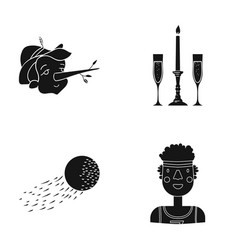 african sport entertainment and other web icon vector image vector image