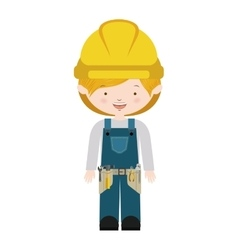 Avatar worker with toolkit and blond hair vector