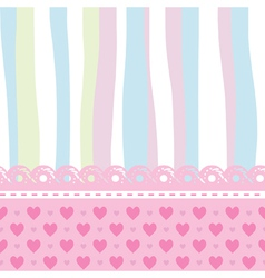 background for a baby card vector image