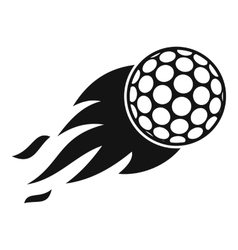 Burning golf ball icon simple style vector image vector image