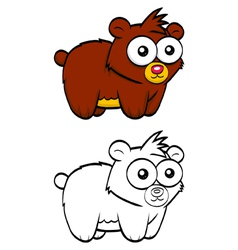 Cartoon bear vector image vector image