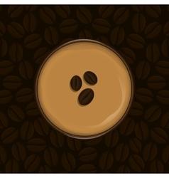 Delicious coffee drink vector image vector image