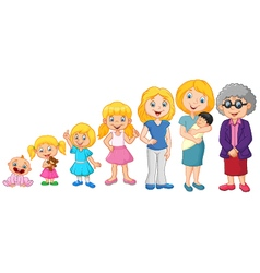 Generations woman Stages of development woman vector image vector image