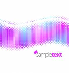 halftone waves vector image vector image