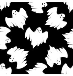 Halloween seamless background pattern vector image