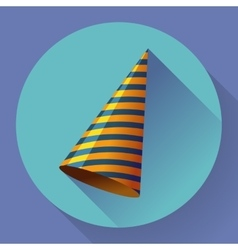 icon of Party hat Flat designed style vector image vector image