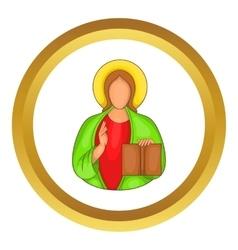 Jesus icon vector image