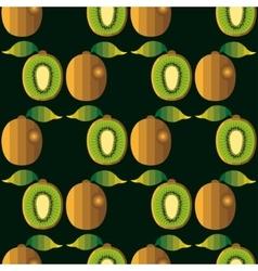 Kiwi fruit seamless pattern vector