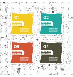 Modern torn paper for infographics infographics vector image vector image