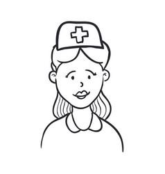 Nurse draw cartoon vector