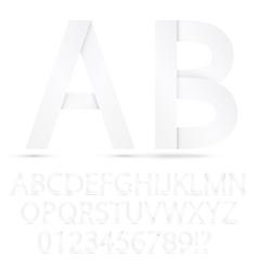 Paper font set vector image