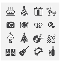 party icon vector image vector image