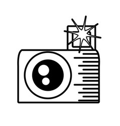photo camera picture flash outline vector image vector image