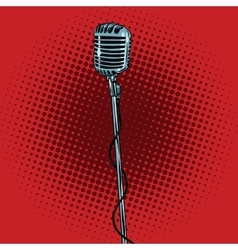 retro microphone and stand vector image vector image