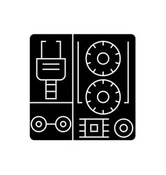 robot industrial kits icon vector image vector image