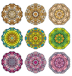 Set circle color 02 380 vector