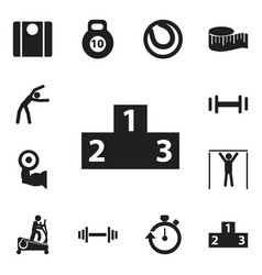 set of 12 editable lifestyle icons includes vector image vector image