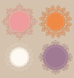 Set of round frames vector