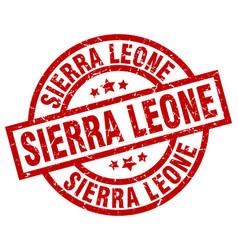 Sierra leone red round grunge stamp vector