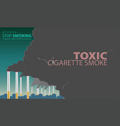 Smoke from cigarettes is made pollution vector