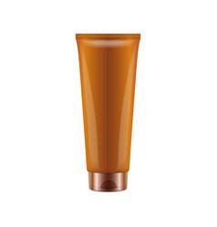 Sunscreen blank plastic pack tube vector