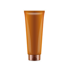 sunscreen blank plastic pack tube vector image